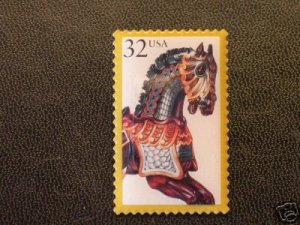 Carousel Horse with Armor Stamp Pin hat lapel pins 2978
