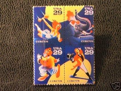 Circus Block Stamp Pin tie tac lapel pins hat 2750-53 S