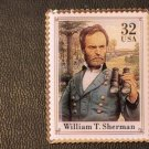 Civil War William T. Sherman  stamp pin lapel 2975q S