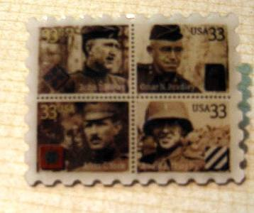 Distinguished Soldiers Hines Bradley Murphy York stamp pin 3393-96 s