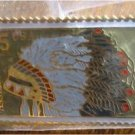 Assinibone Indian Headdress stamp pin lapel hat 2501 S