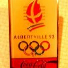 Coke Coca-Cola Olympic pin Albertville '92 lapel hat m1