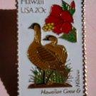 Hawaii Hawaiian Goose Hibiscus HI stamp pin pins 1963 s
