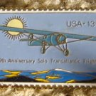 Transatlantic Flight Lindbergh Stamp pin lapel hat 1710 S