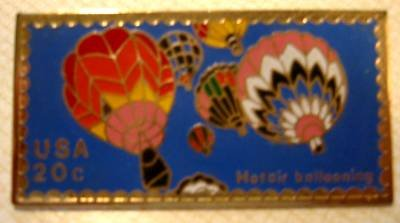 Hot Air Balloon Barnes Stamp Pin lapel pins hat 2033 s