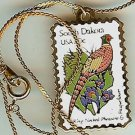 South Dakota Pheasant stamp necklace pendant 1993n s
