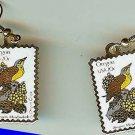 Meadowlark Oregon Grape stamp earrings 1989ew NIP s
