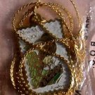 New Mexico Roadrunner Yucca stamp necklace pendant 1983n s