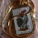 Delaware Blue Hen Chicken Peach stamp necklace 1960n S
