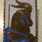 Carousel Goat Stamp Pin cloisonne hat lapel pins 2393 s