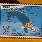 Sea Otter stamp pin lapel pins tie tac hat 2510 Mammal s