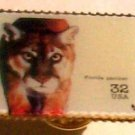 Florida Panther stamp pin lapel pins tie tac hat 3105m s