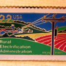 REA  Rural Electrification  Stamp Pin lapel pins hat 2144 S