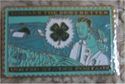 4-H Club Stamp pin 4H Agriculture lapel pins 1005 full size S