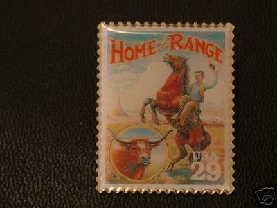 Home on the Range Stamp Pin Horse hat lapel pins 2869a S