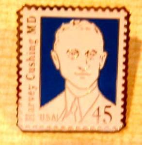 Harvey Cushing MD stamp pin hat lapel pins tie tac 2188 s