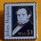 John Johns Hopkins Stamp Pin lapel pins hat 2194 S