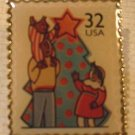 Decorating Tree Christmas Stamp Pin lapel pins hat 3109 s