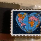 Global World Love stamp magnet cloisonne new 2536mg NIP s