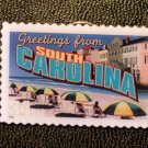 South Carolina Greetings Stamp Pin lapel pins 3735 NIP S