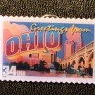 Ohio OH Greetings Stamp Pin lapel pins tie tac 3730 NIP S