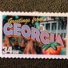 Georgia Greetings Stamp Pin lapel pins tie tac 3705 NIP S