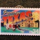 Texas Greetings Stamp Pin lapel pins tie tac 3738 NIP S