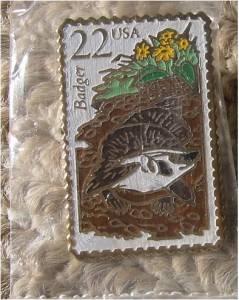 Badger Wisconsin Wildlife stamp pin lapel pins hat 2312 S
