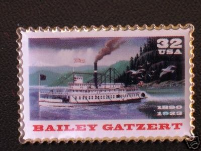 Bailey Gatzert Riverboat Stamp Pin lapel pins hat 3095 S