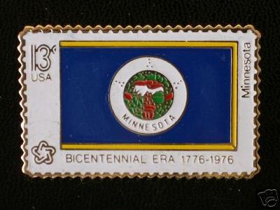 Minnesota State Flag stamp pin lapel hat tie tac 1664 S