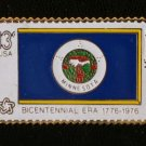 Minnesota State Flag stamp pin lapel hat tie tac 1664 S