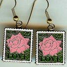 Love Rose Stamp earrings cloisonne 2378ew earwire S