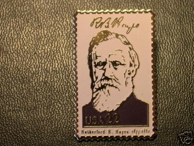 Rutherford B. Hayes lapel pins stamp pin tie tac 2218a S
