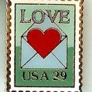 Love Letter 1992 Stamp magnet 2618mg