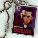 Bela Lugosi Dracula stamp keychain 3169kc NIP Halloween S