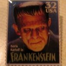 Boris Karloff Frankenstein stamp pin lapel hat new 3170 S