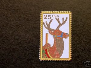 Carousel Deer Stamp Pin cloisonne hat lapel pins 2390 S