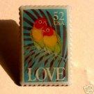 Love Birds metal Stamp pin lapel pins tie tac hat 2537sm  S