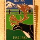 Caribou Alaska Statehood metal Stamp Pin lapel pins 2066 S