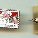 Christmas Santa Claus  stamp earrings 2064ep S