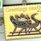 Presents in Sleigh  Metal Stamp Ornament 2428orn S