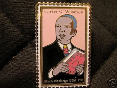 Carter Woodson stamp pin lapel pins Black History 2073 S