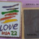 Crayon Love stamp refrigerator magnet cloisonne new 2143mg S
