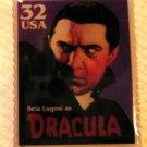 Dracula Bela Lugosi metal postage stamp pin  3169 S