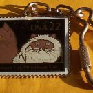 Abyssinian Himalayan Cat postage Stamp Keychain 2373kc S