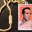 Actor Humphrey Bogart postage stamp keychain 3152kc S
