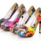 women's Flowery color high heels peep-toes dress shoes/wedding shoes