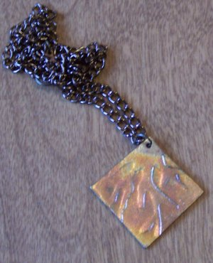 Flowing River Copper Pendant Neckalce Handcrafted One of a Kind Handmade