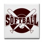 SOFTBALL {1} tile coasters
