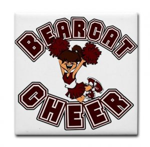 BEARCAT CHEER {21}  tile coasters